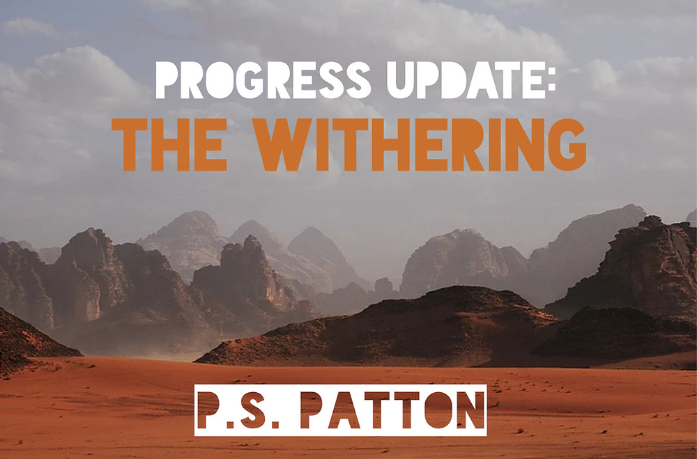 An image that looks like the deserts of Noloro in the Empyrean Valley from The Withering by P.S. Patton