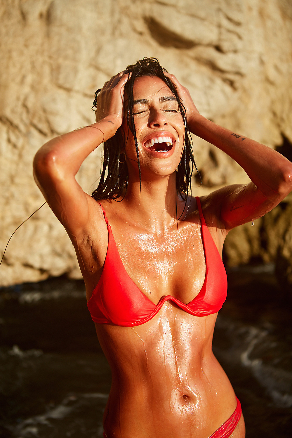 swimwear model Andrea Rodriguez photographed in a sexy bikini by fashion and swimwear photographer Patrick Patton for glamour and lifestyle magazine girlfriend MTRL.