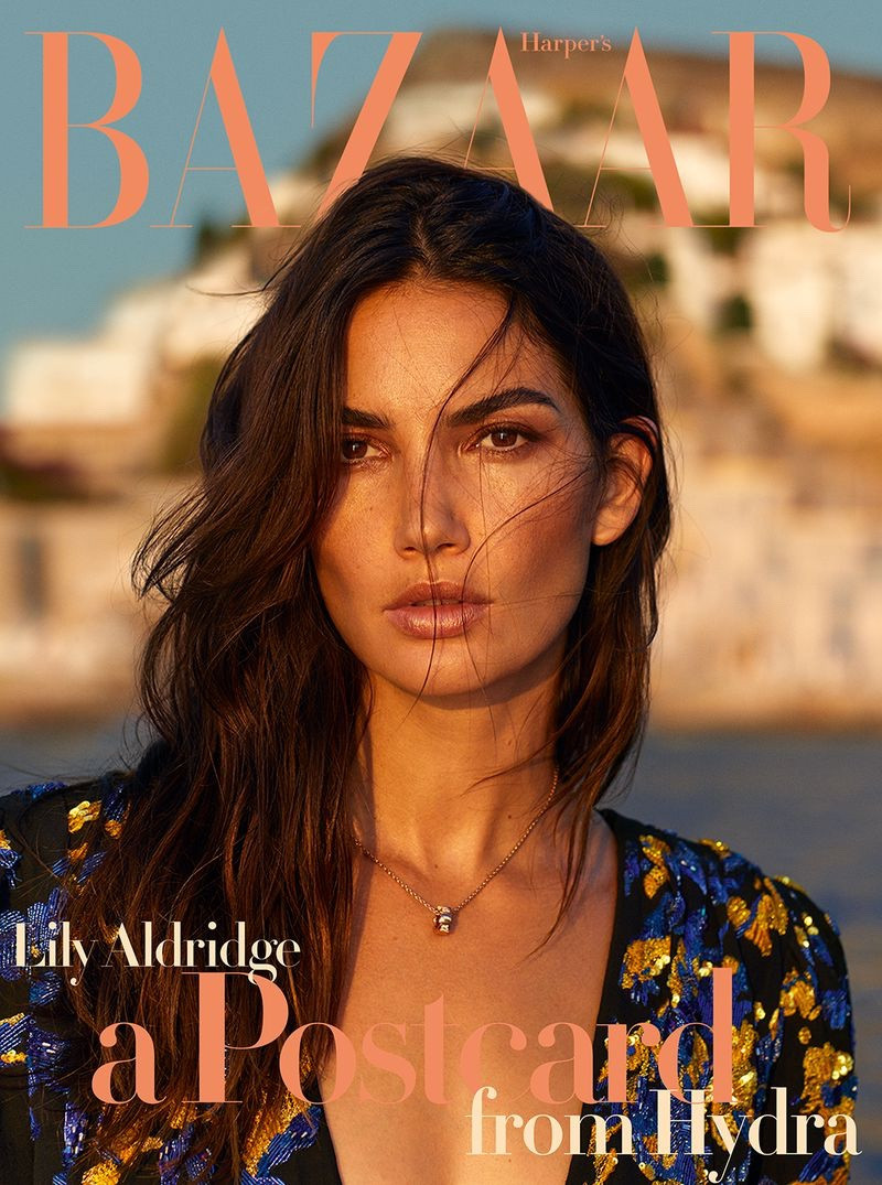Lily Aldridge by Yulia Gorbachenko - styled by Sandy Armeni - A postcard from Hydra