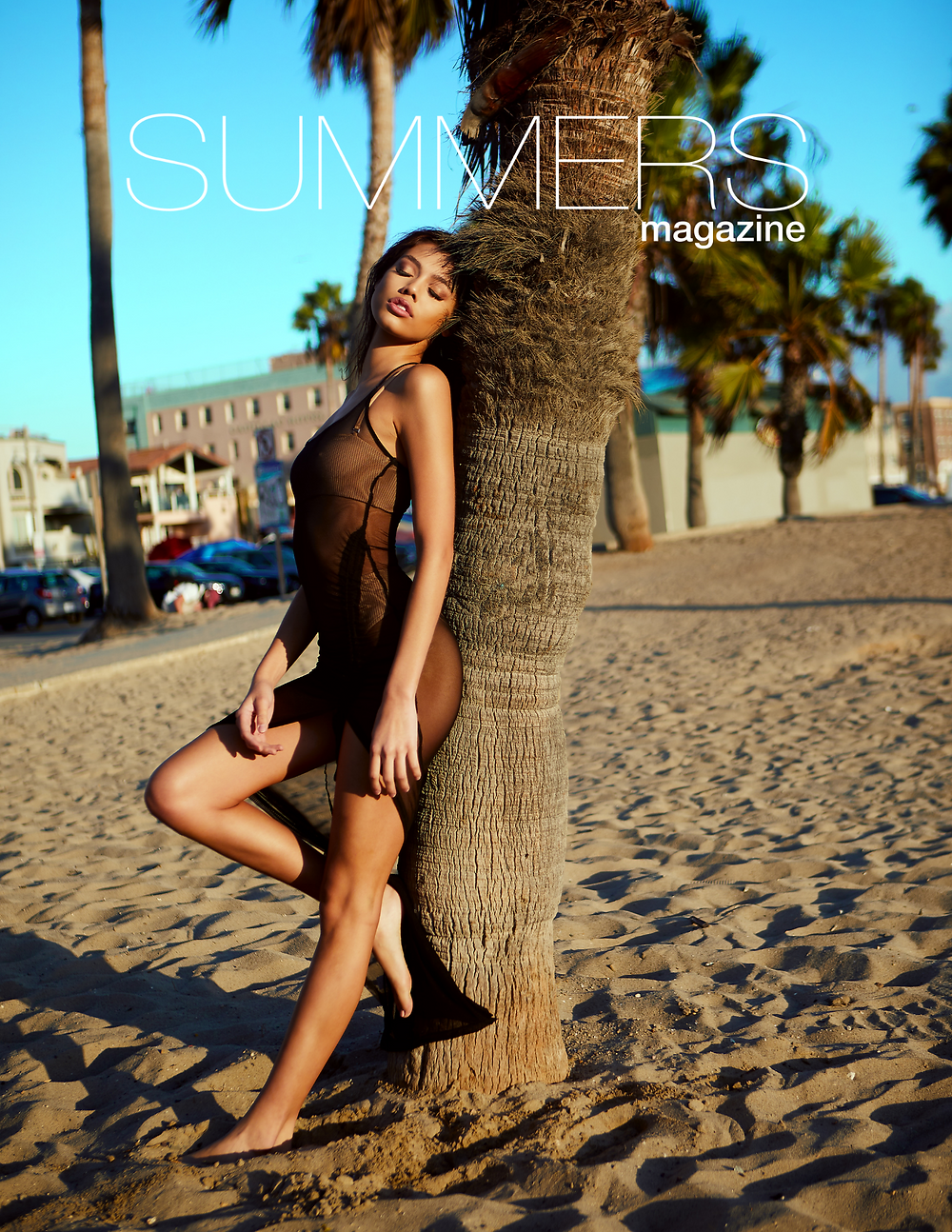 Sexy swimwear model Layla Palma on the cover of Summers Magazine by Patrick Patton