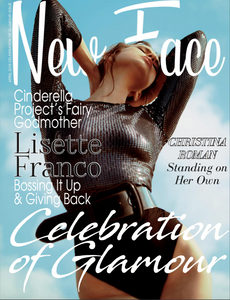 Model Egith Van Dinther aka Iggy Van D poses on the cover of New Face Fashion Magazine in a black long-sleeve Free People sequin top by photographer Patrick Patton