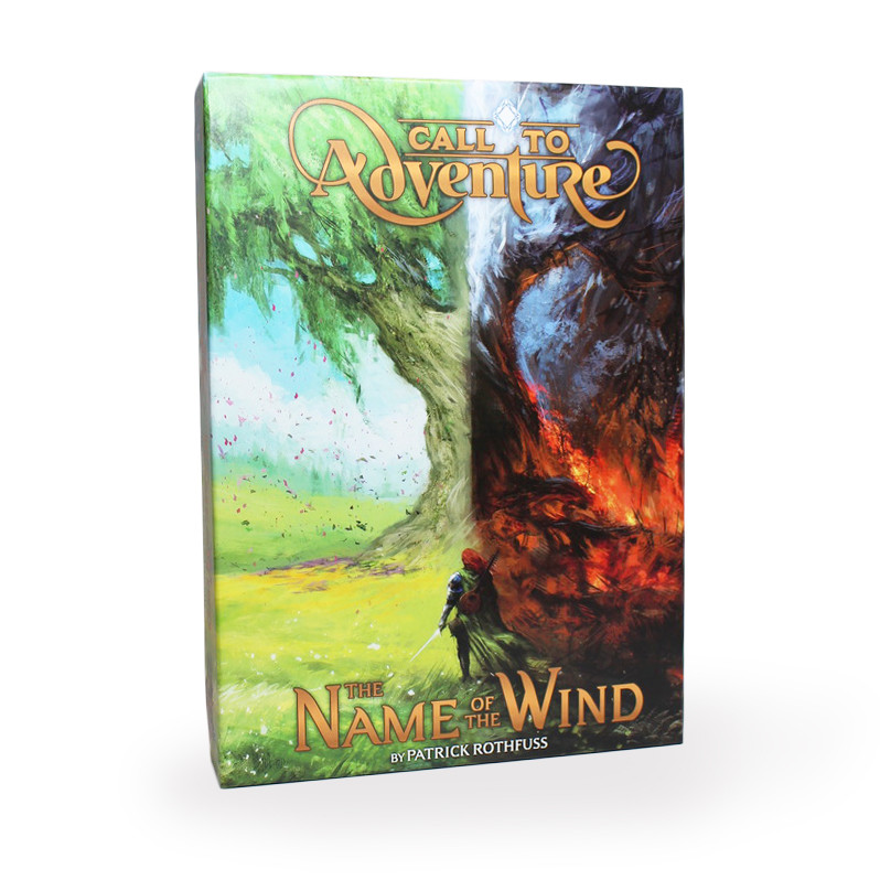 call to adventure the name of the wind expansion set by patrick rothfuss.