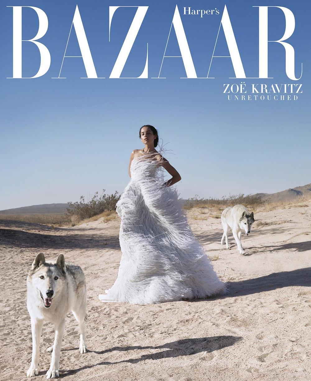 Harper's Bazaar October 2018 Zoe Kravitz by Camilla Akrans