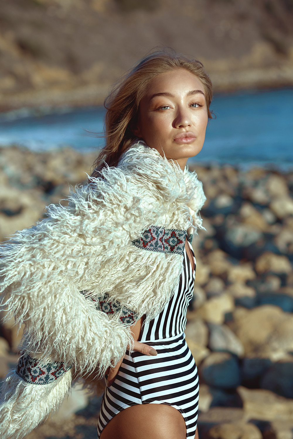 Bethan Sowerby of J'adore Models Rosa Faux Fur Coat from Urban Outfitters - photography by Patrick Patton