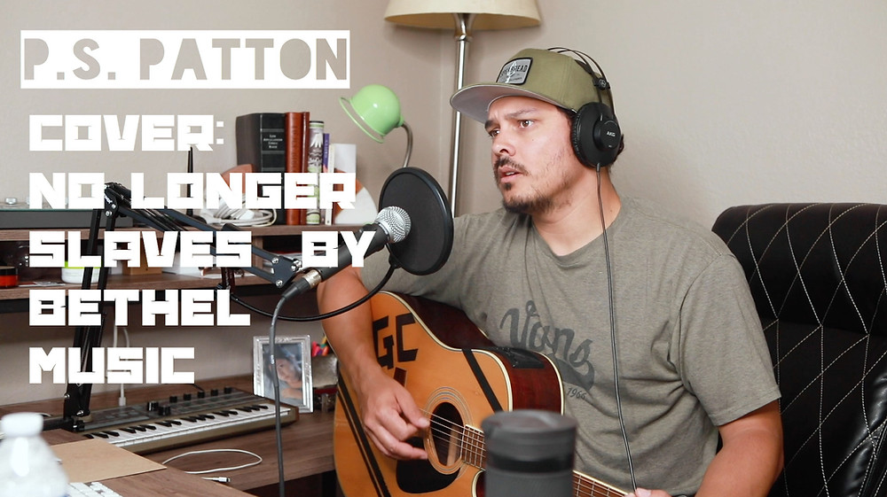 Christian Author, singer, and songwriter P.S. Patton performs No Longer Slaves by Bethel Music