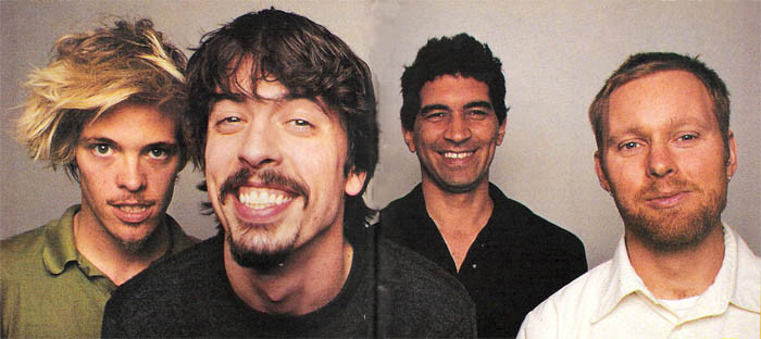 Foo Fighters Dave Grohl, Pat Smear, Taylor Hawkins, Nate Mendel