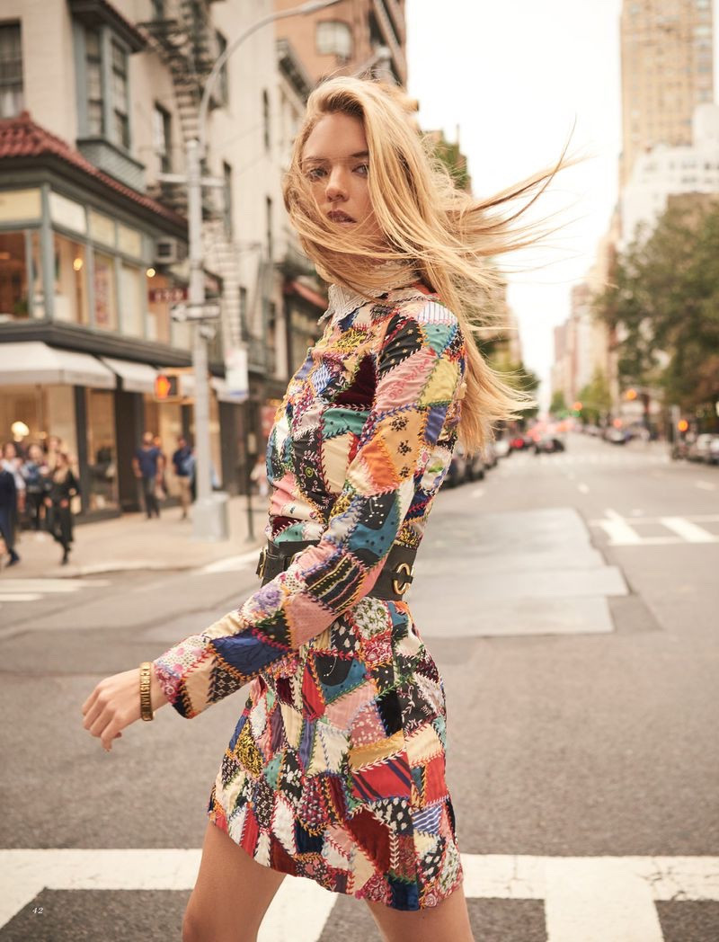 Martha Hunt Takes On Street Style for Harper's Bazaar Kazakhstan | Photos by Danny Cardozo Styling by DaVian Lain