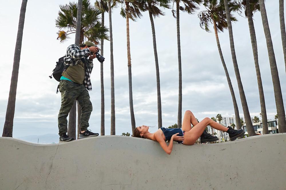 Sexy fashion and swimwear model layla palma in a bikini at venice beach by Patrick Patton Photography