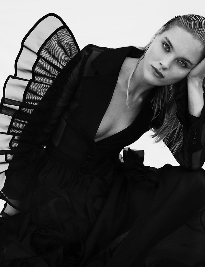 Romy de Vries Dresses in All Black for Grazia Netherlands | Photos by Katelijne Verbruggen Styling by Cara Schiffelers