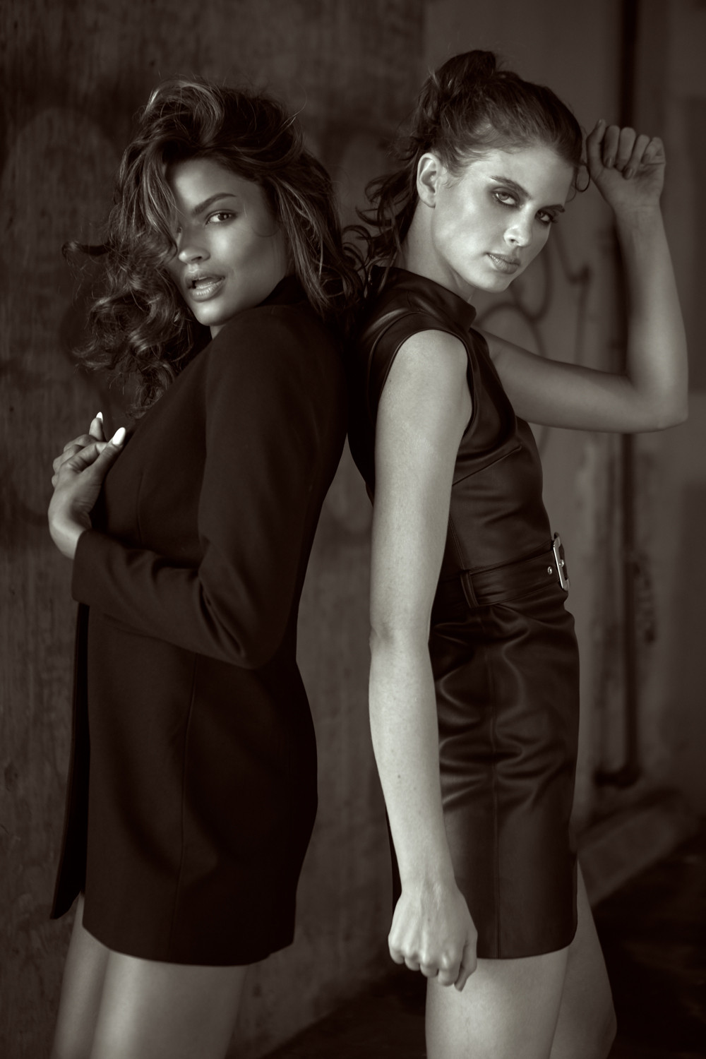 Sianna Nelson of L.A. Models and Livia Pillmann of The Industry Model Management L.A. by Patrick and Andrea Patton