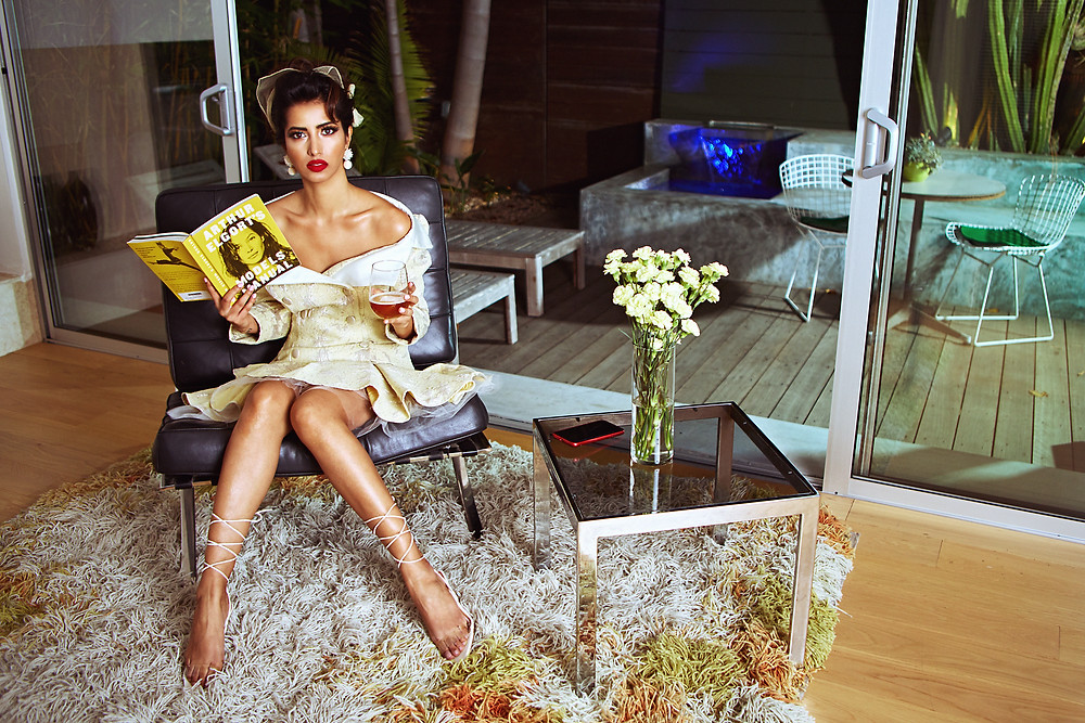 Manasvi Mamgai Miss India 2012 models in a fashion editorial for the September 2019 issue of New Face Magazine.
