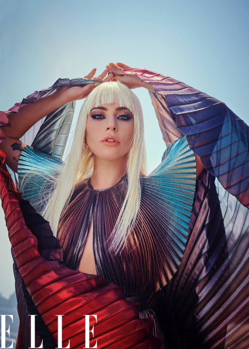 Lady Gaga Poses On the Beach for ELLE Cover Story | Photographed by Ruth Hogben and Andrea Gelardin