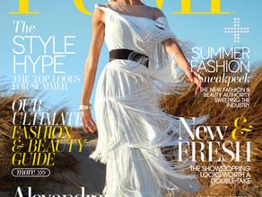Alexandra Lamas for the Cover of PUMP Magazine