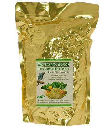 TOP's All-Natural Bird Pellets for Parrots-10lbs