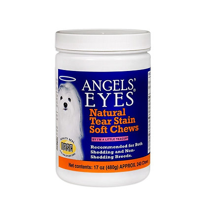 Angels Eyes Natural Tear Stain Remover, Soft Chews, Chicken Flavor, 120 or 240 C