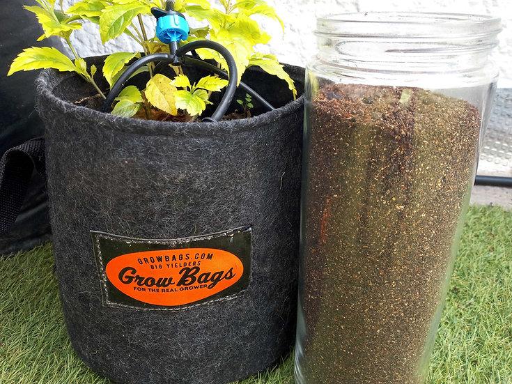 Grow Kit Sustrato Vivo + Macetas 20 Litros