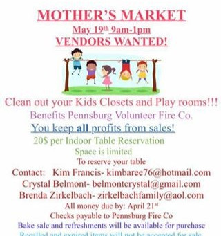 Mothers Market May 19th