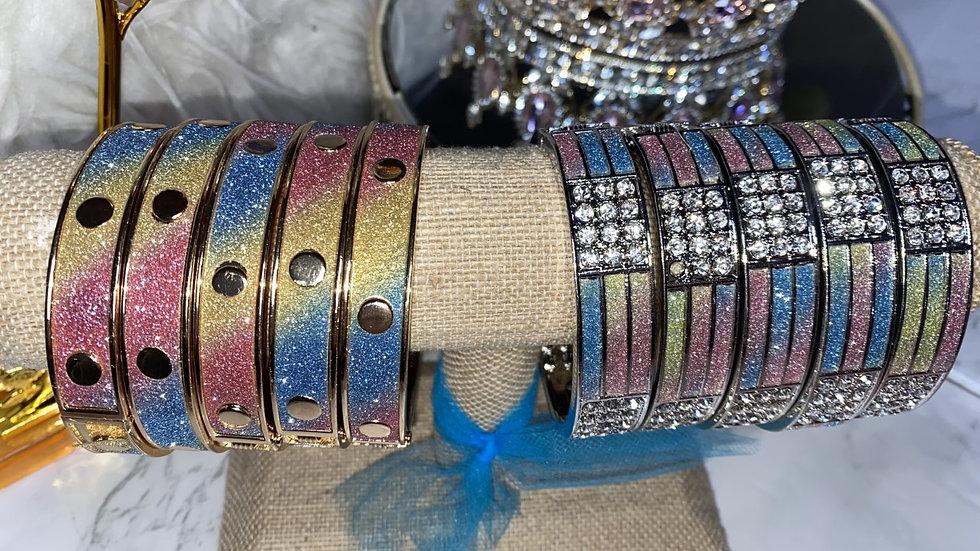 Pastel Rainbow bracelets