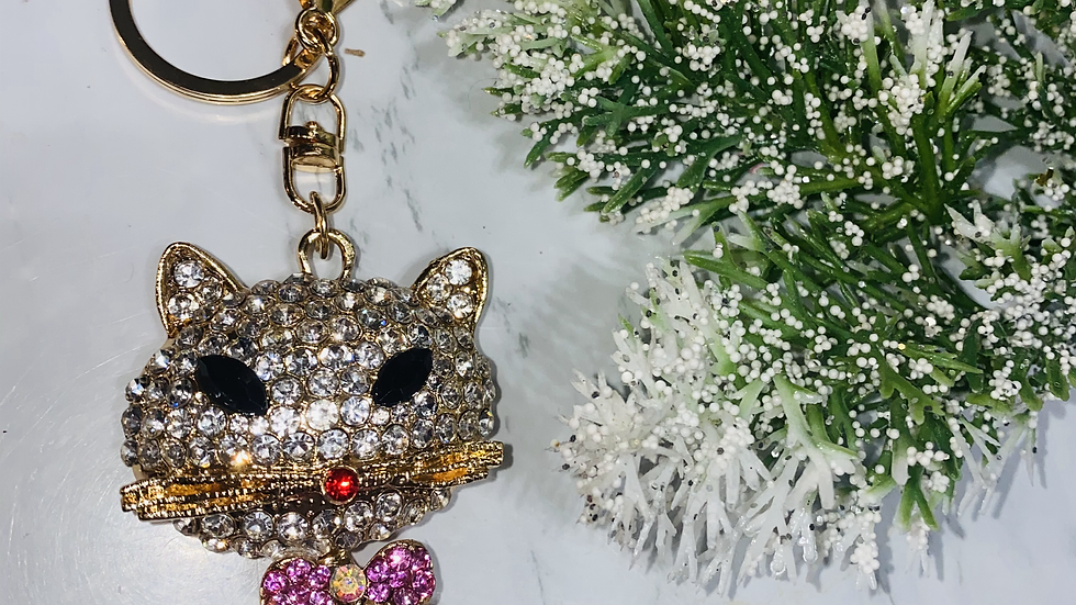 Pink Vixen Kitty Purse charm& keychain