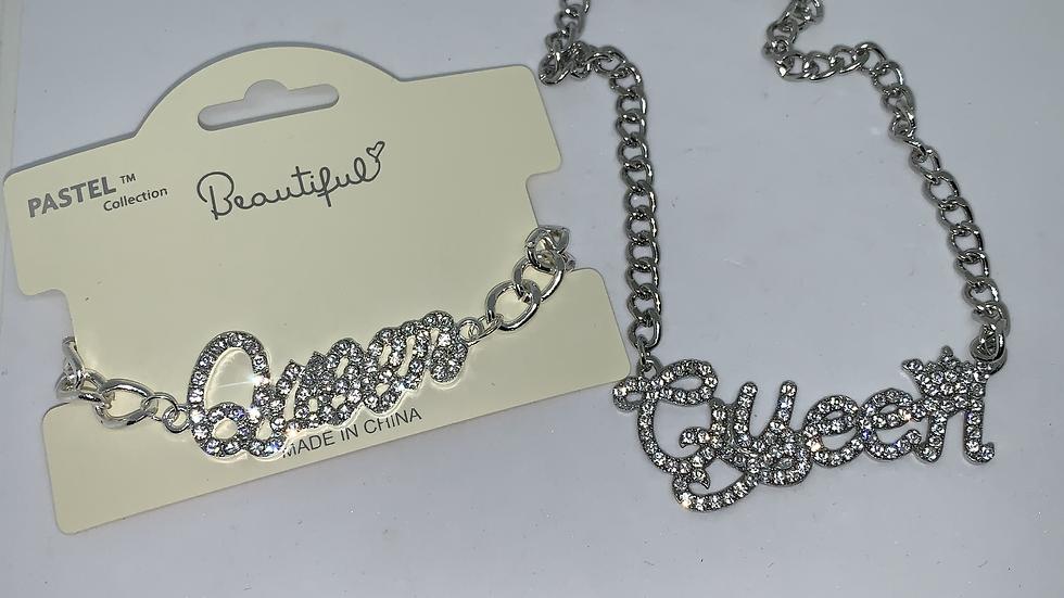 """""""Ice Queen"""" bracelet & necklace set"""