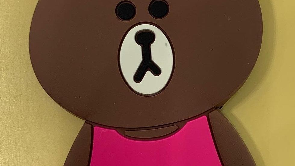 Silicone Phone Grip- Female Brown bear