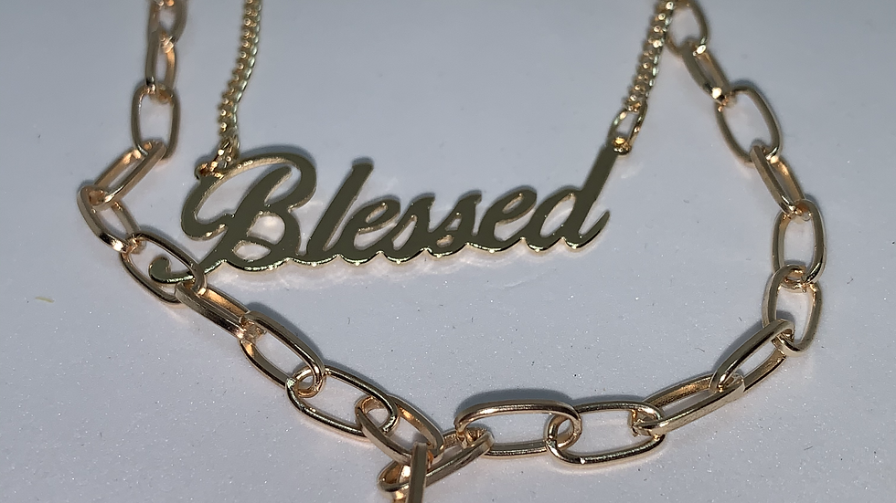"""""""Blessed"""" multi-layer necklace Goldtone or silvertone"""