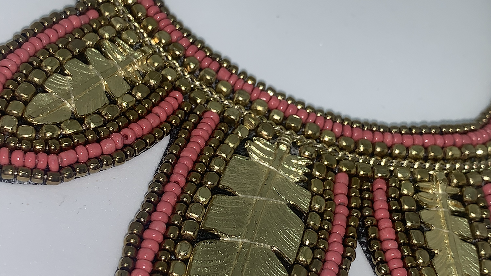 Coral & Gold Statement Necklace