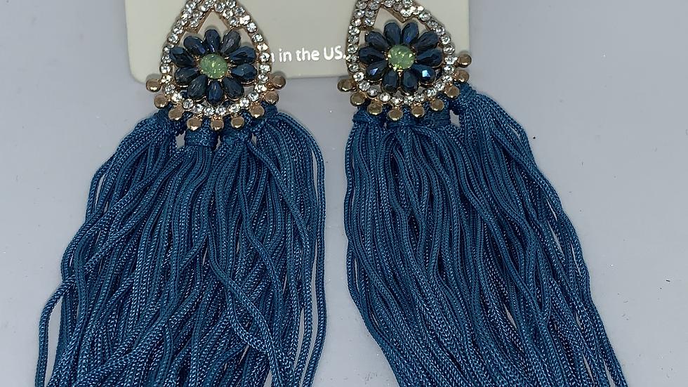 """""""Peacock"""" bling Dangle earrings"""