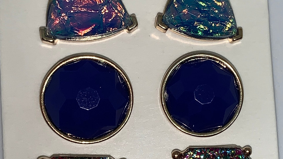 Blue multipack bling studs