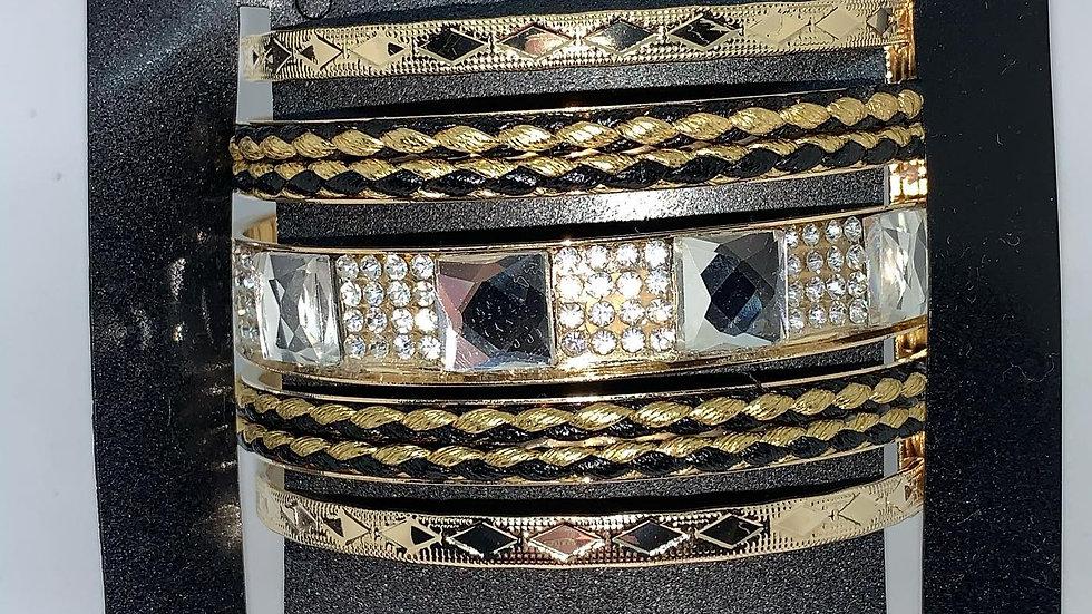 Antiqued Bling Cuff Bracelet