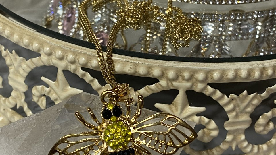 Gold Filled yellow Queen Bee necklace