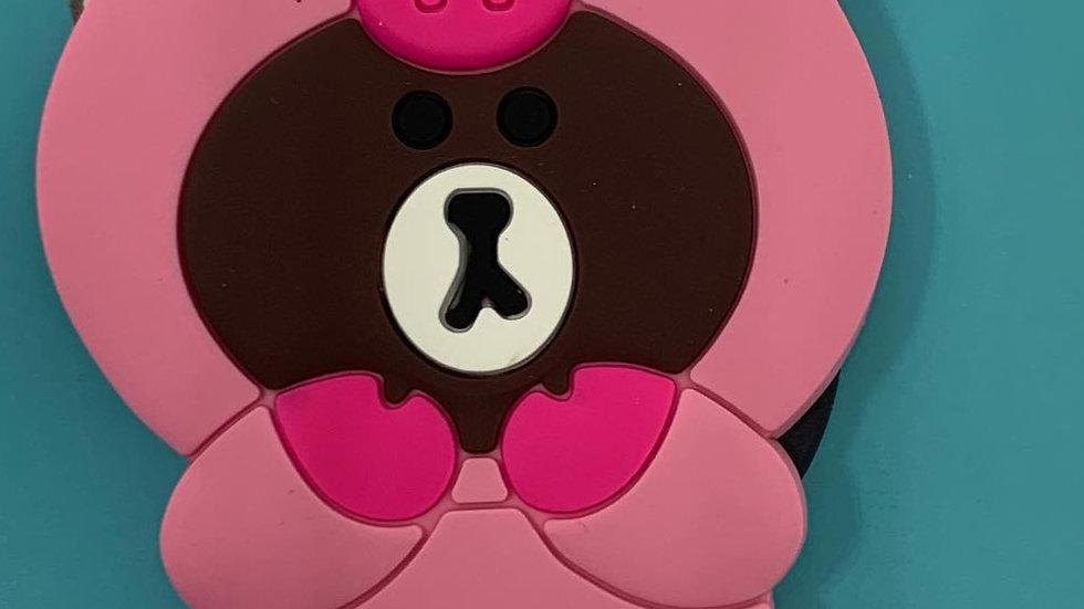 Silicone Phone Grip- Piggy bear