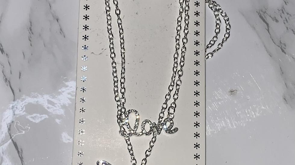 Butterfly Love Multi strand necklace