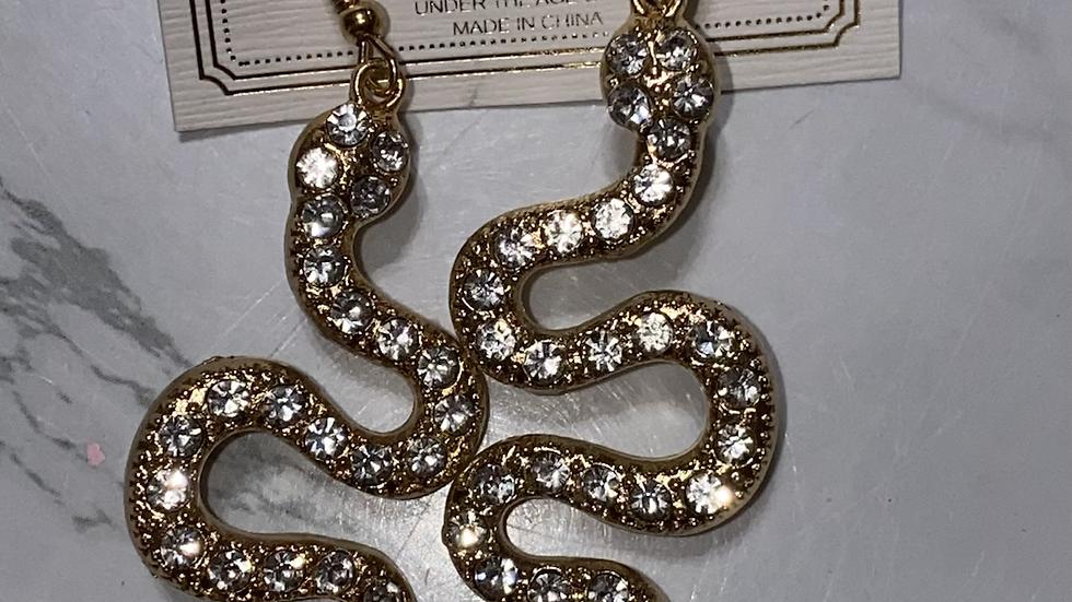 Slithering hook earrings