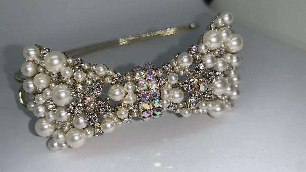 Glamour Bow metal headband