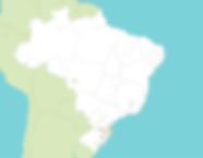 Mapa do Brasil, com divisão por estados, relevando a atução da empesa em todo território nacional