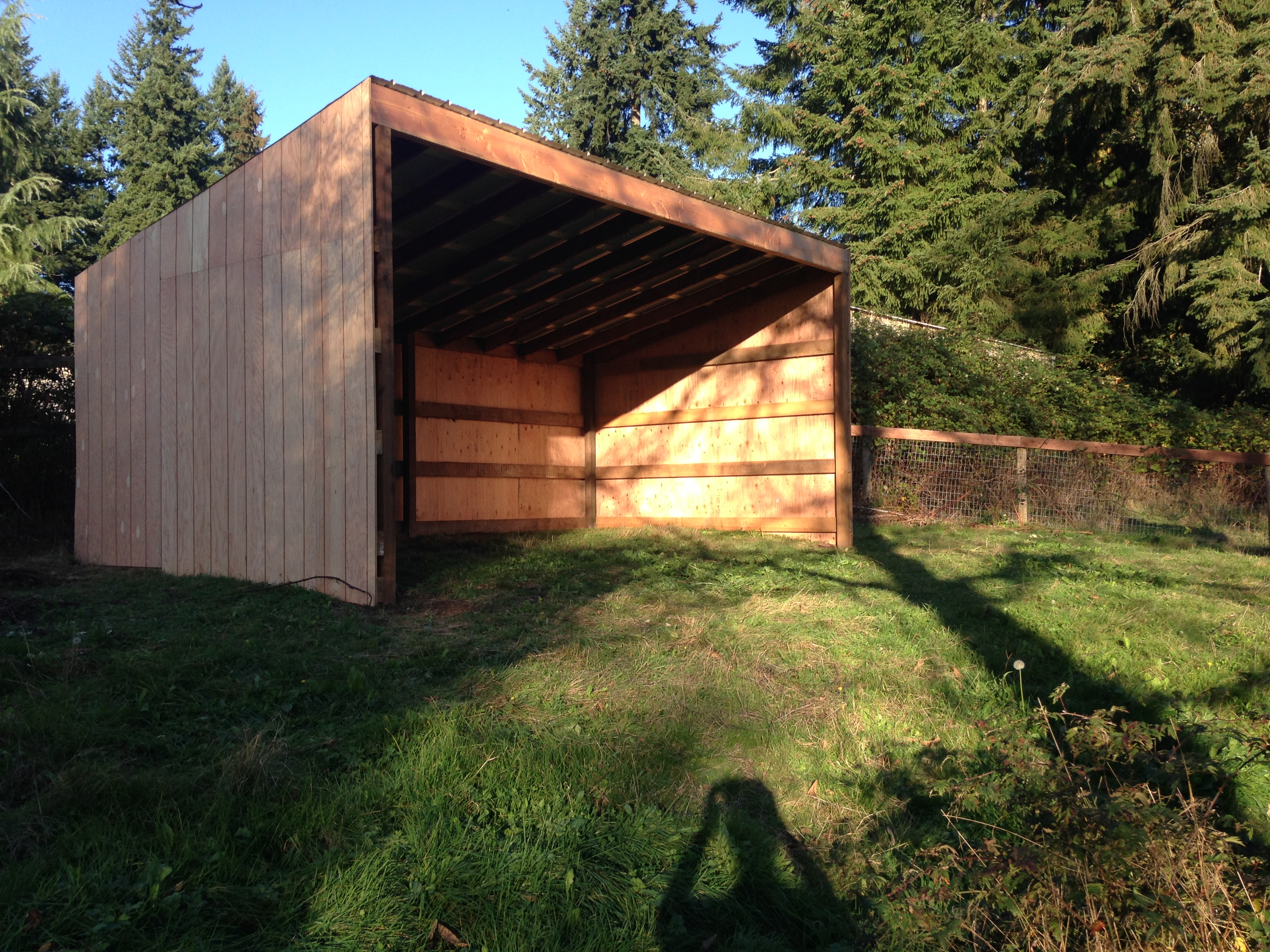 Upper pasture shelter