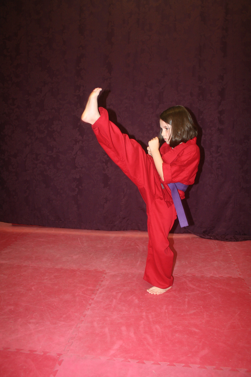 Raylee Vinson demonstrates an excellent front kick!