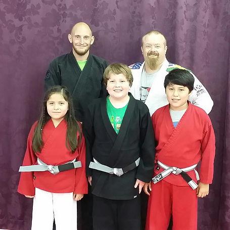 Recent belt promotions for Children's Jiu Jitsu