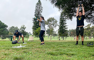 HIIT, group fitness, park workout