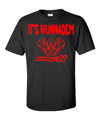 black and red Wunnadem 2fit T-shirt