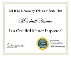 Certified Master Home Inspector Certificate