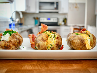 Loaded potatoes two ways - my take on Polish and American ultimate comfort food