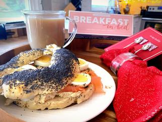 Polish Obwarzanek Sandwich - breakfast in bed