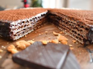 Pischinger - Polish wafer cake my grandma's recipe- a dessert from Krakow