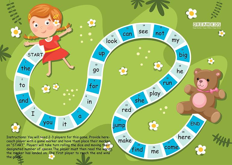 Sightword Board Game