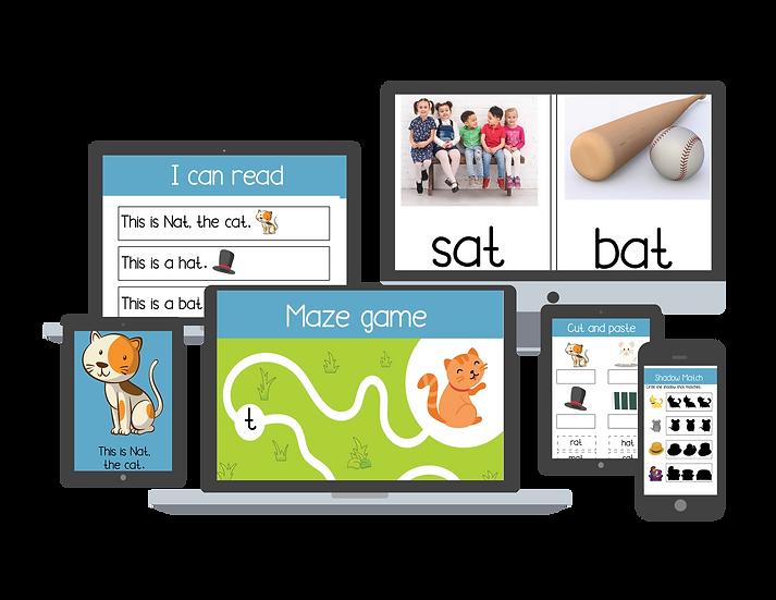 -at Word Family Activity Kit