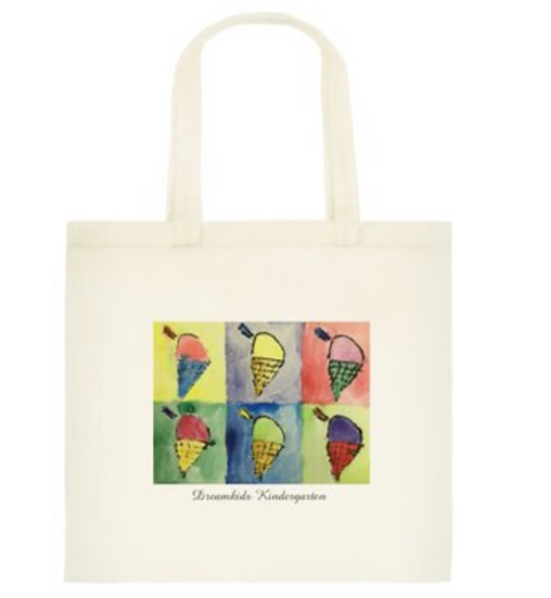 Ice Cream Cotton Tote Bag (Small)