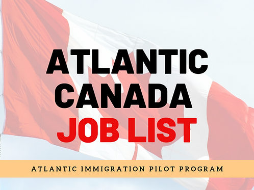 Atlantic Immigration Pilot Program Job List
