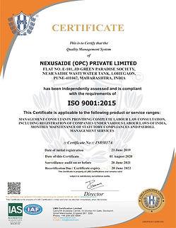 NEXUSAIDE ISO Surveillance Certificate.j